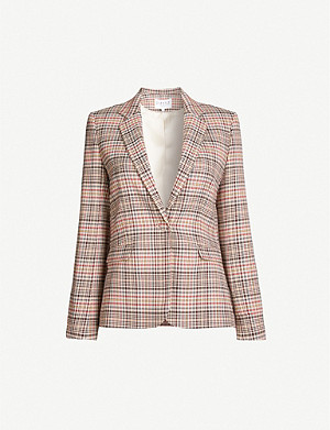 CLAUDIE PIERLOT Vanite checked woven blazer