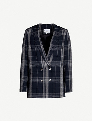 CLAUDIE PIERLOT Checked double-breasted stretch-woven blazer