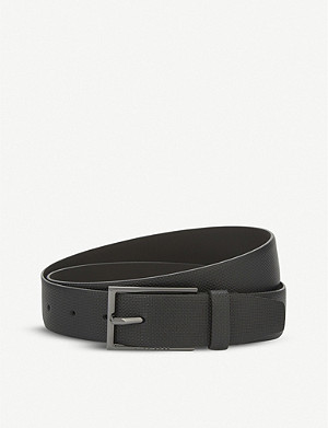 BOSS Carmello-S textured leather belt