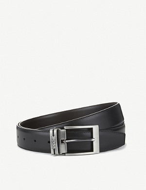 BOSS Interchangable buckles leather belt