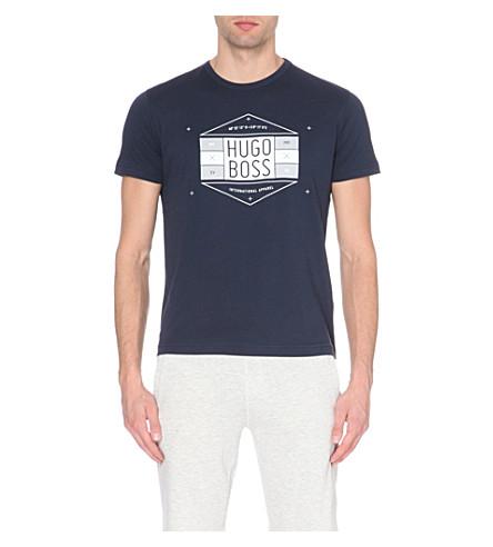 cb57f9c36 BOSS - Logo-print cotton-jersey t-shirt | Selfridges.com