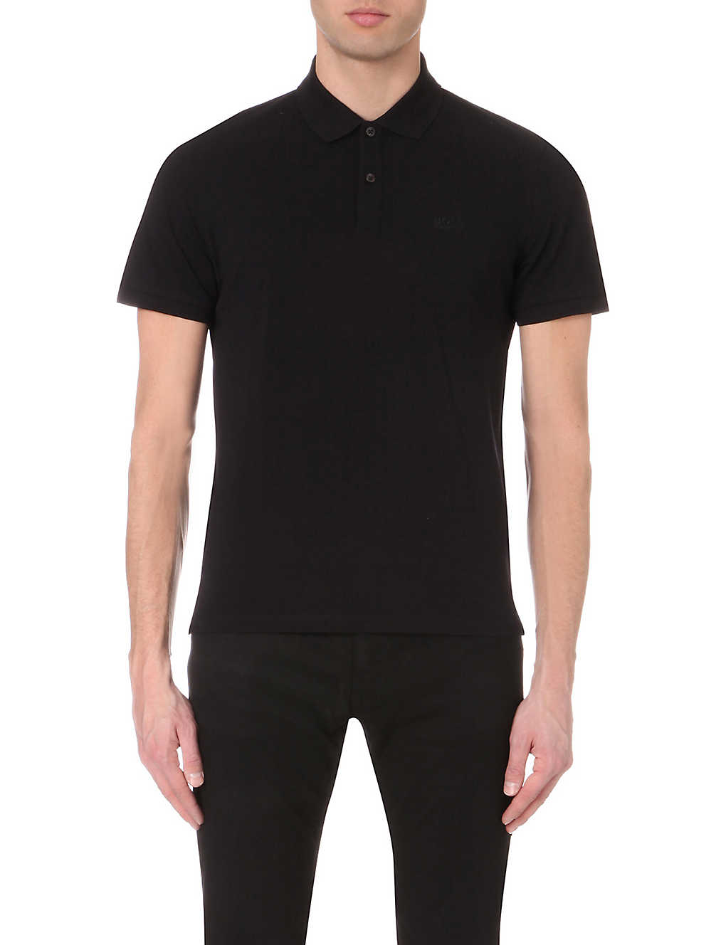 1bc90035 BOSS - Slim-fit cotton-piqué polo shirt | Selfridges.com