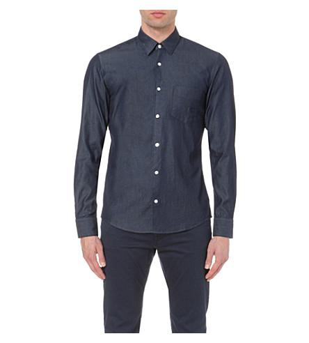 fa0278283c3 BOSS Leisure denim shirt (Navy