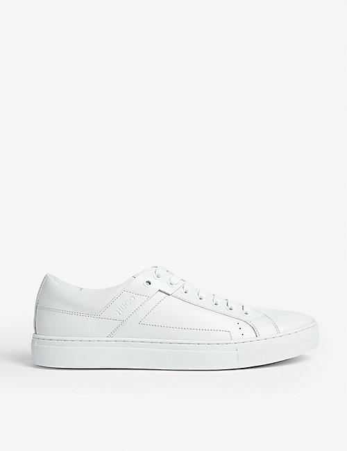 HUGO Embossed leather trainers