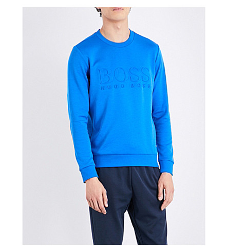 Hugo Boss  Logo-embossed cotton-blend sweatshirt