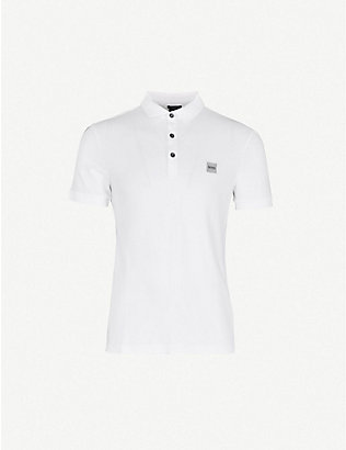 BOSS: Logo-embroidered cotton-piqué polo shirt