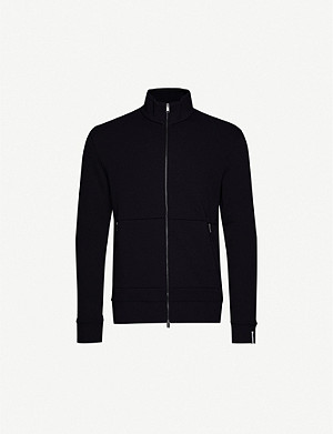 BOSS Stand-collar jersey sweatshirt