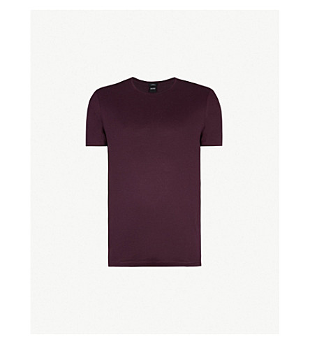 6aa36d47 BOSS - Slim-fit cotton-jersey T-shirt | Selfridges.com
