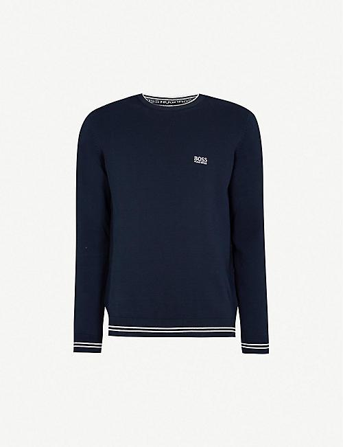 47e991ef1594 BOSS Logo-embroidered cotton-blend sweatshirt