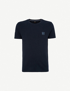 BOSS Logo patch cotton-jersey T-shirt