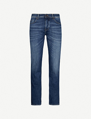 BOSS Regular-fit mid-rise jeans