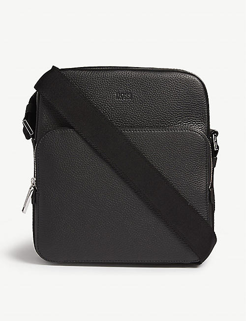 BOSS Leather messenger bag