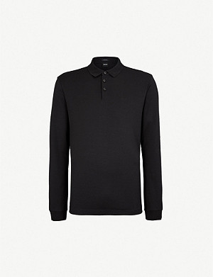 BOSS Leisure cotton-jersey polo shirt