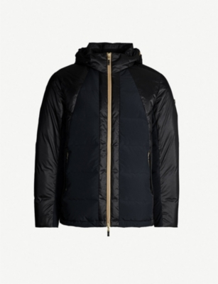 BOSS Contrast panels down-blend shell jacket