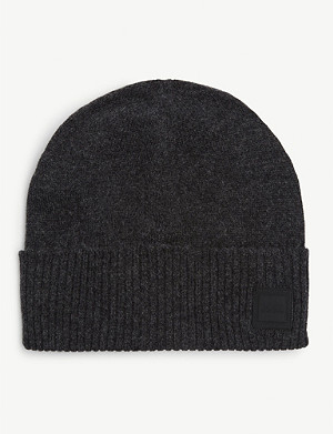 BOSS Square logo knitted beanie