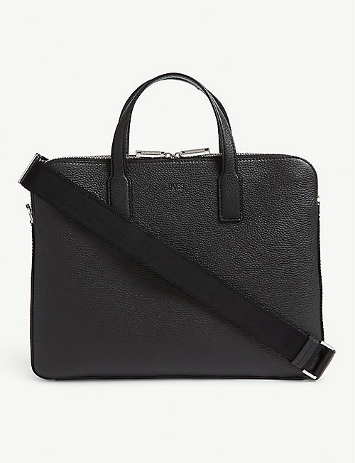 BOSS Leather flight bag