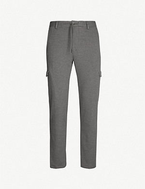 BOSS Regular-fit cotton-blend trousers