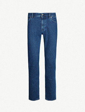 BOSS Faded regular-fit straight jeans