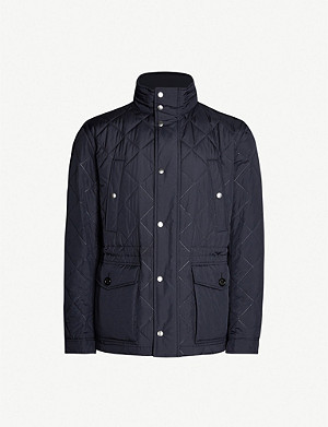 BOSS Quilted shell hooded jacket