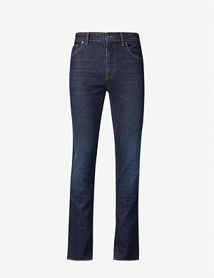 BOSS Regular-fit tapered denim jeans