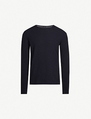 BOSS Cotton-jersey long-sleeve T-shirt