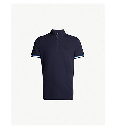 cc50c79a26 BOSS - Slim-fit cotton-piqué polo shirt   Selfridges.com