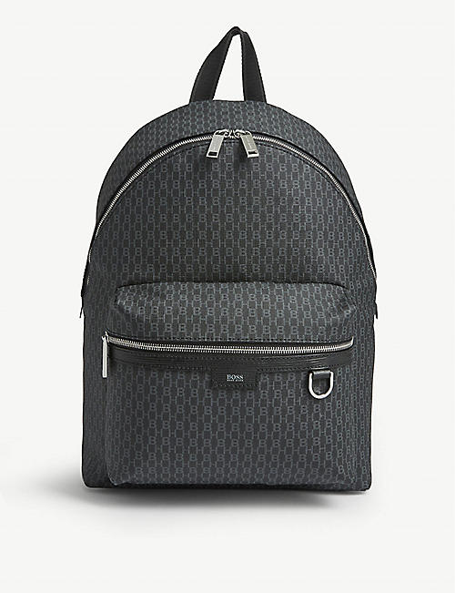 BOSS Logo print nylon backpack