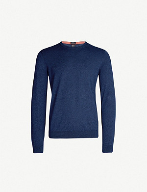 BOSS Slim-fit cotton jumper
