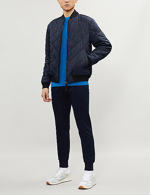 BOSS Quilted shell bomber jacket