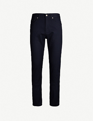 BOSS Regular-fit straight stretch-cotton jeans