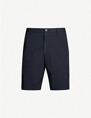 BOSS: Regular-fit cotton-blend twill chino shorts