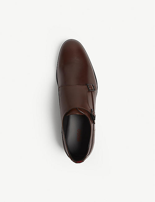 HUGO Leather monk strap shoes