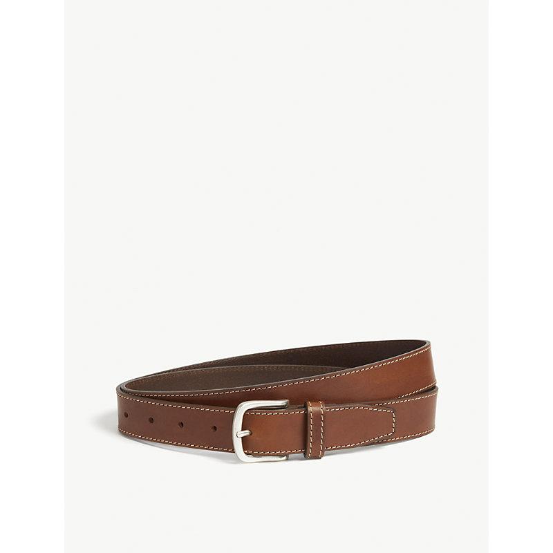 HUGO BOSS | Stitched Leather Belt | Goxip