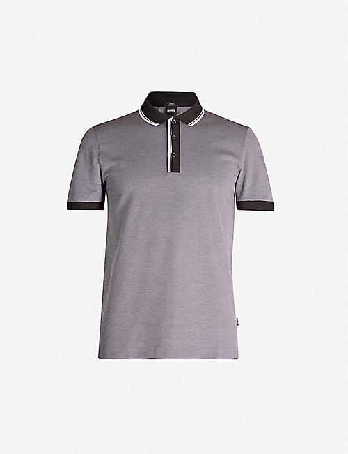 239884536 BOSS - Polo shirts - Tops & t-shirts - Clothing - Mens - Selfridges ...