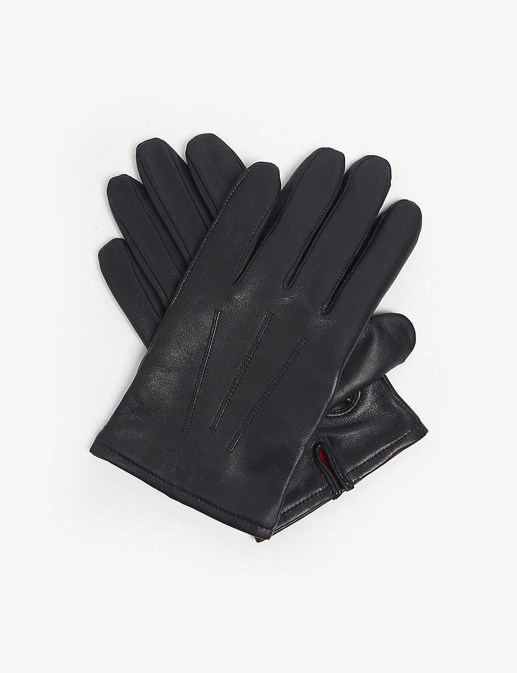 3a59d88437abe HUGO - Cashmere-lined leather gloves | Selfridges.com
