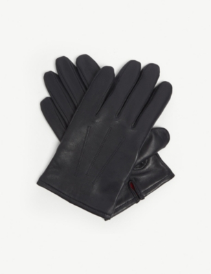 HUGO Cashmere-lined leather gloves