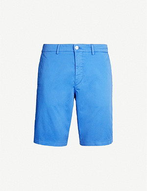 BOSS Slim-fit stretch-cotton twill shorts