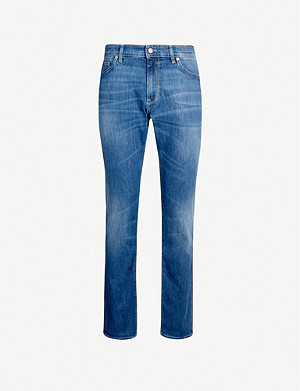 BOSS Regular-fit tapered stretch-denim jeans