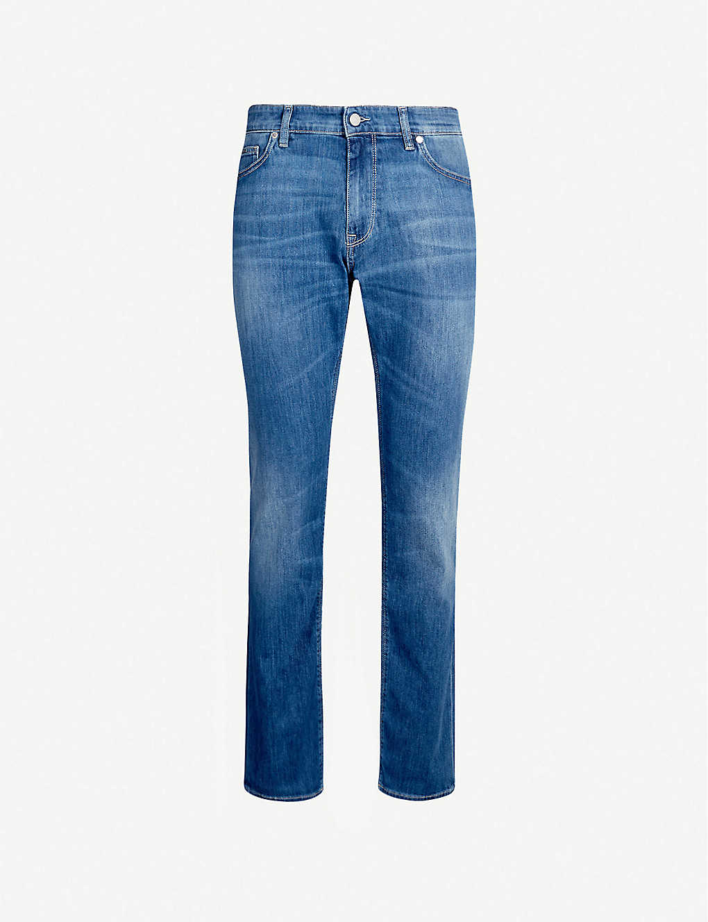 BOSS: Tapered stretch-denim jeans