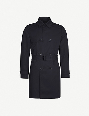 HUGO Double-breasted woven trench coat