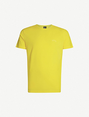 BOSS Branded cotton-jersey T-shirt
