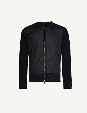 BOSS Stretch-jersey and padded shell jacket