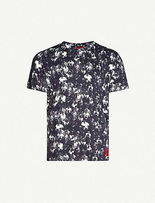 HUGO Graphic-print cotton-jersey T-shirt
