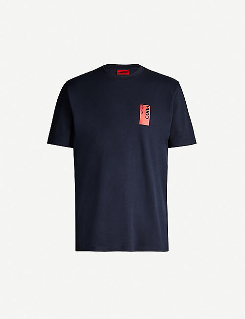 HUGO Logo-print cotton-jersey T-shirt