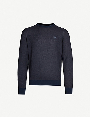 BOSS Logo-patch wool jumper