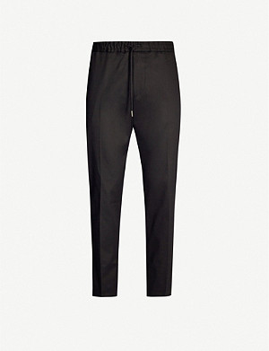 BOSS Slim-fit tapered stretch-twill trousers
