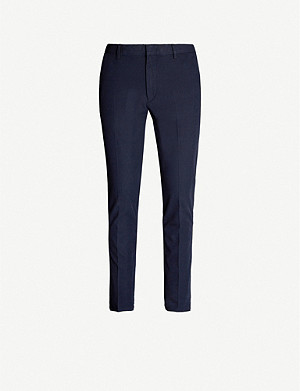 BOSS Regular-fit straight cotton-blend trousers