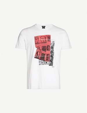 BOSS Graphic-print cotton T-shirt