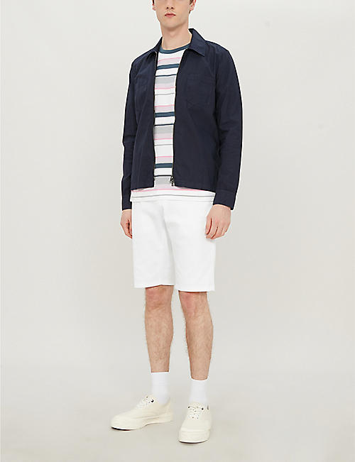 HUGO Slim-fit stretch-cotton twill shorts