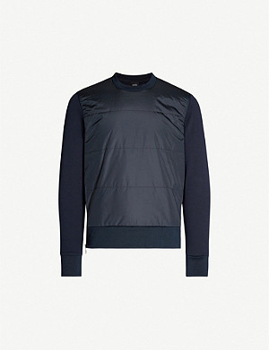 BOSS Stretch-jersey and padded shell sweatshirt